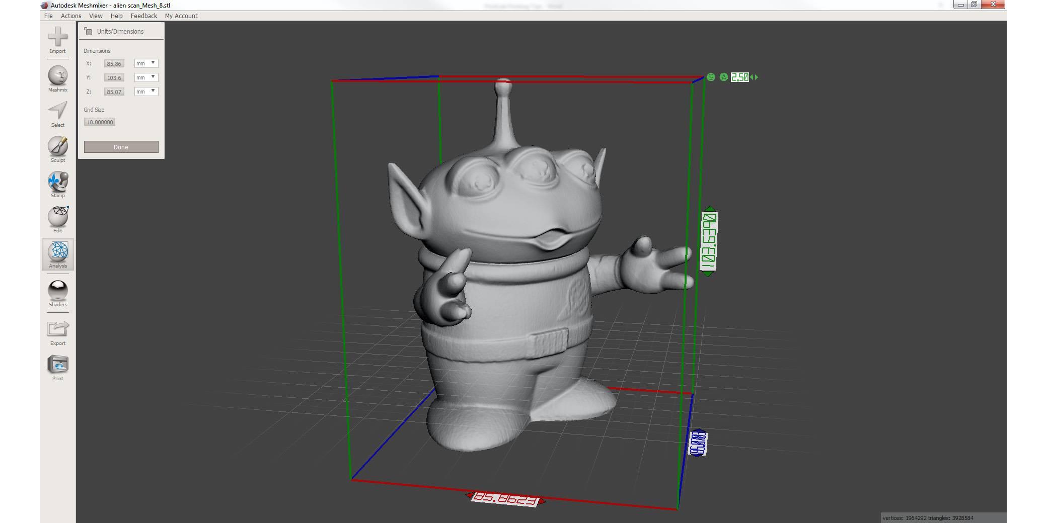 meshmixer screenshot