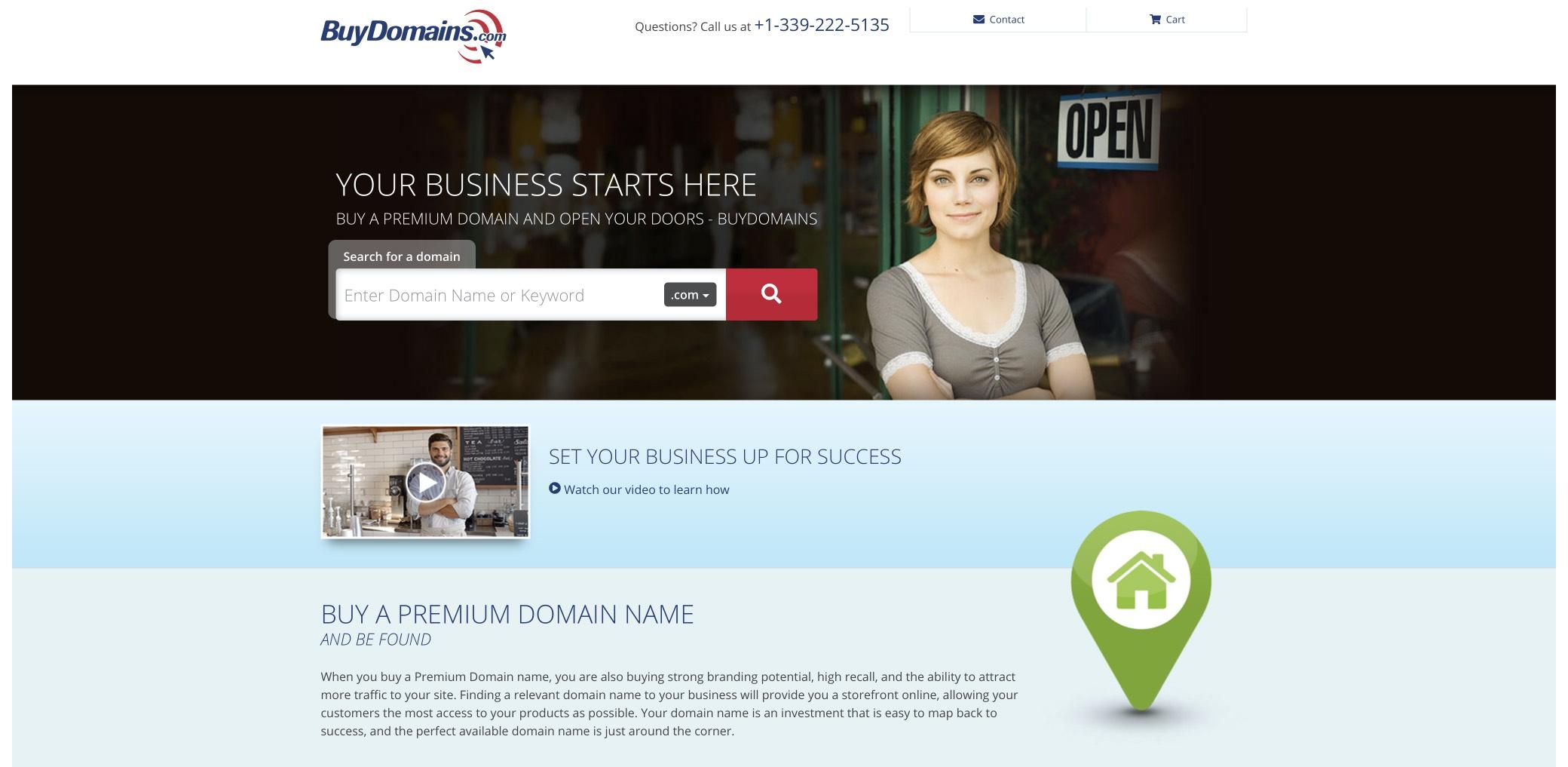 buydomains screenshot