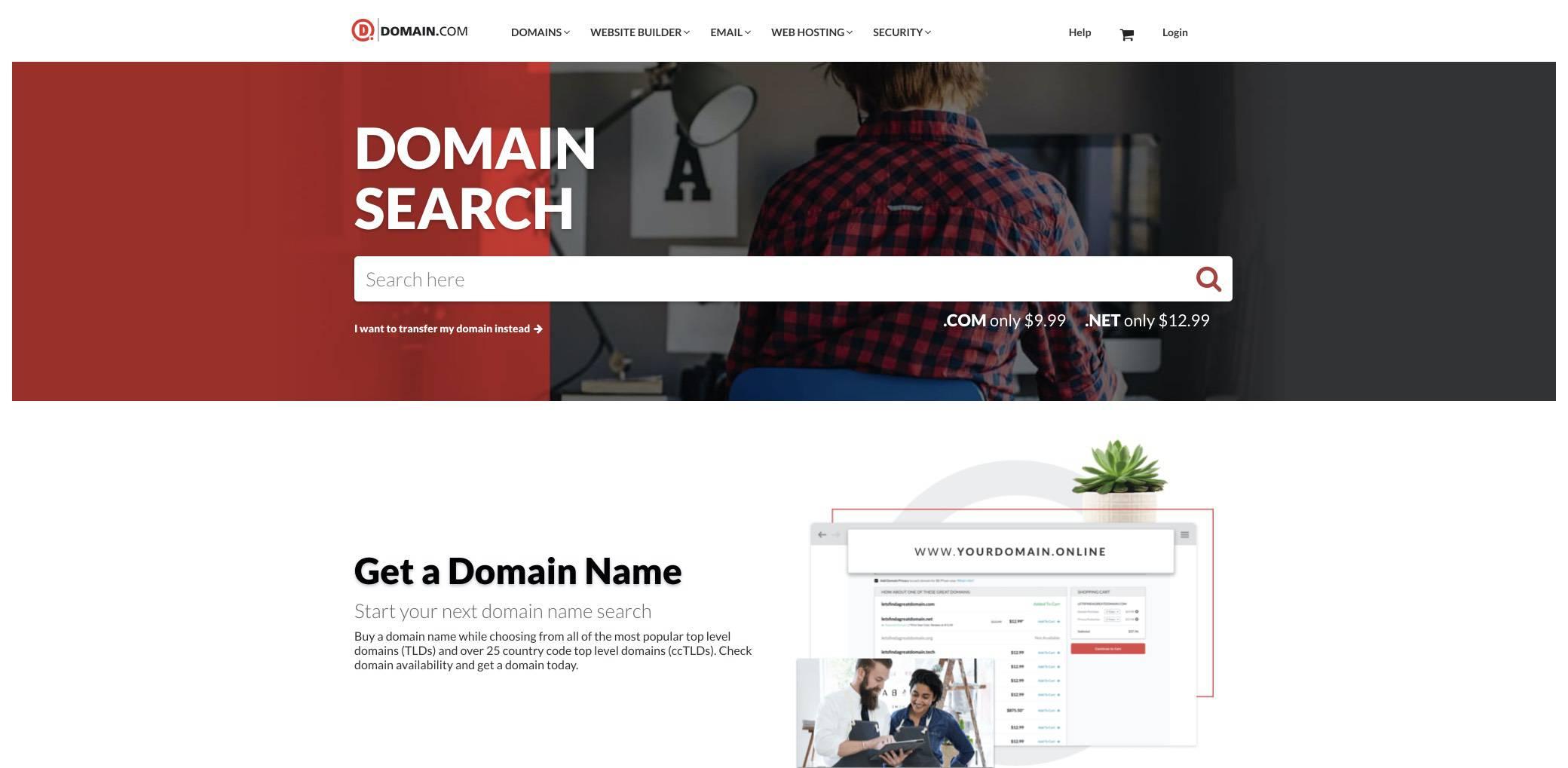 domaincom screenshot