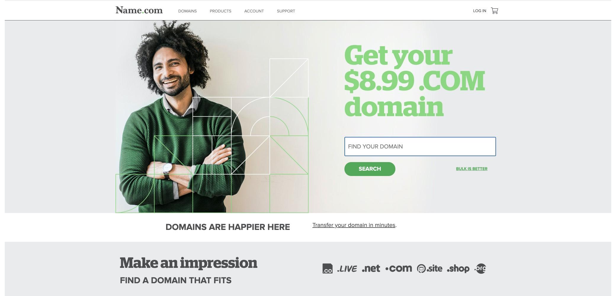namecom screenshot