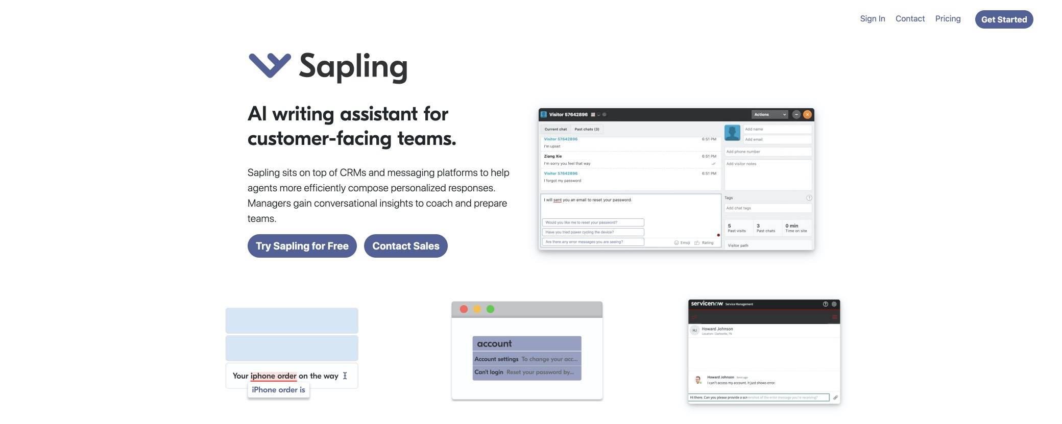 sapling screenshot