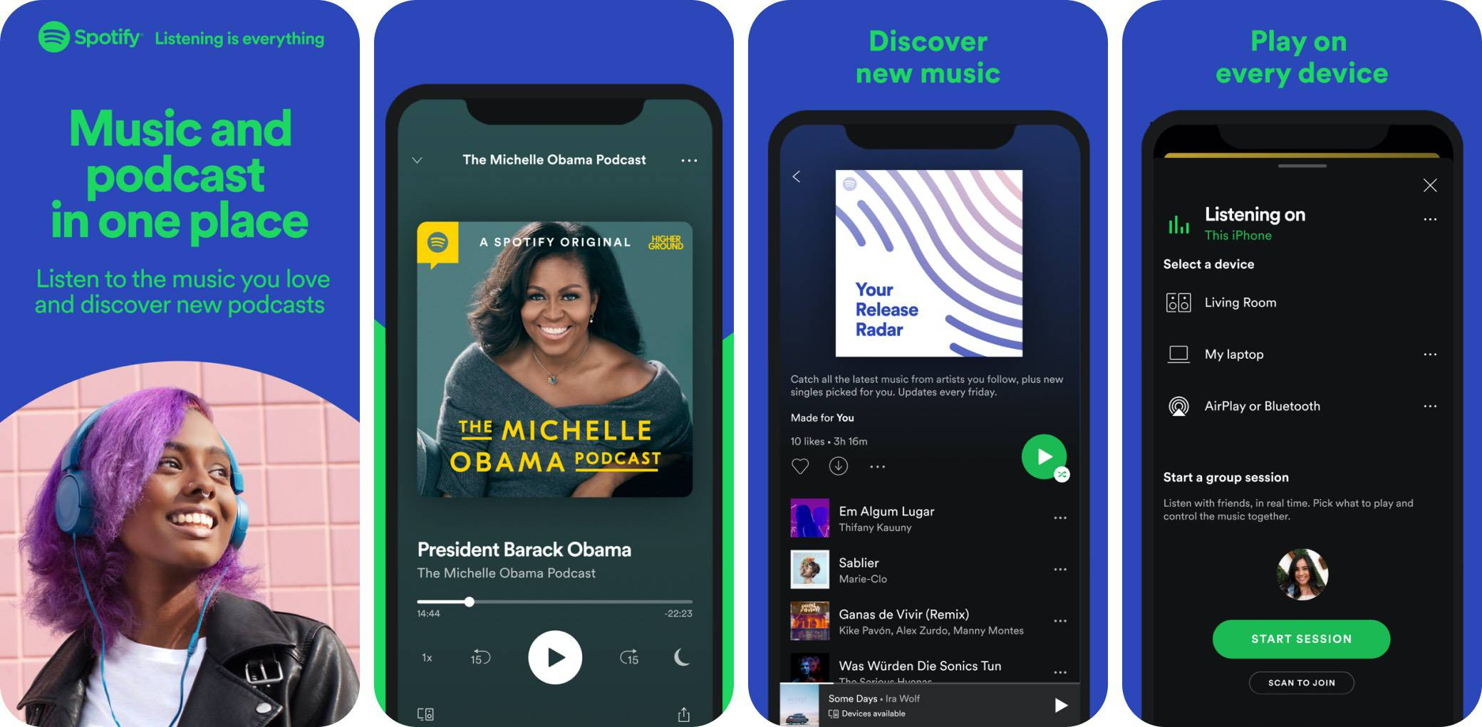 spotify-music screenshot