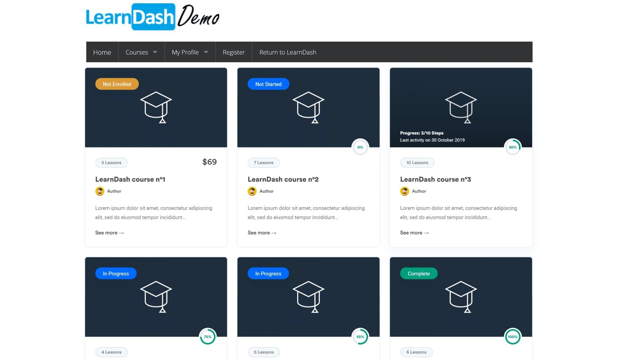 learndash screenshot