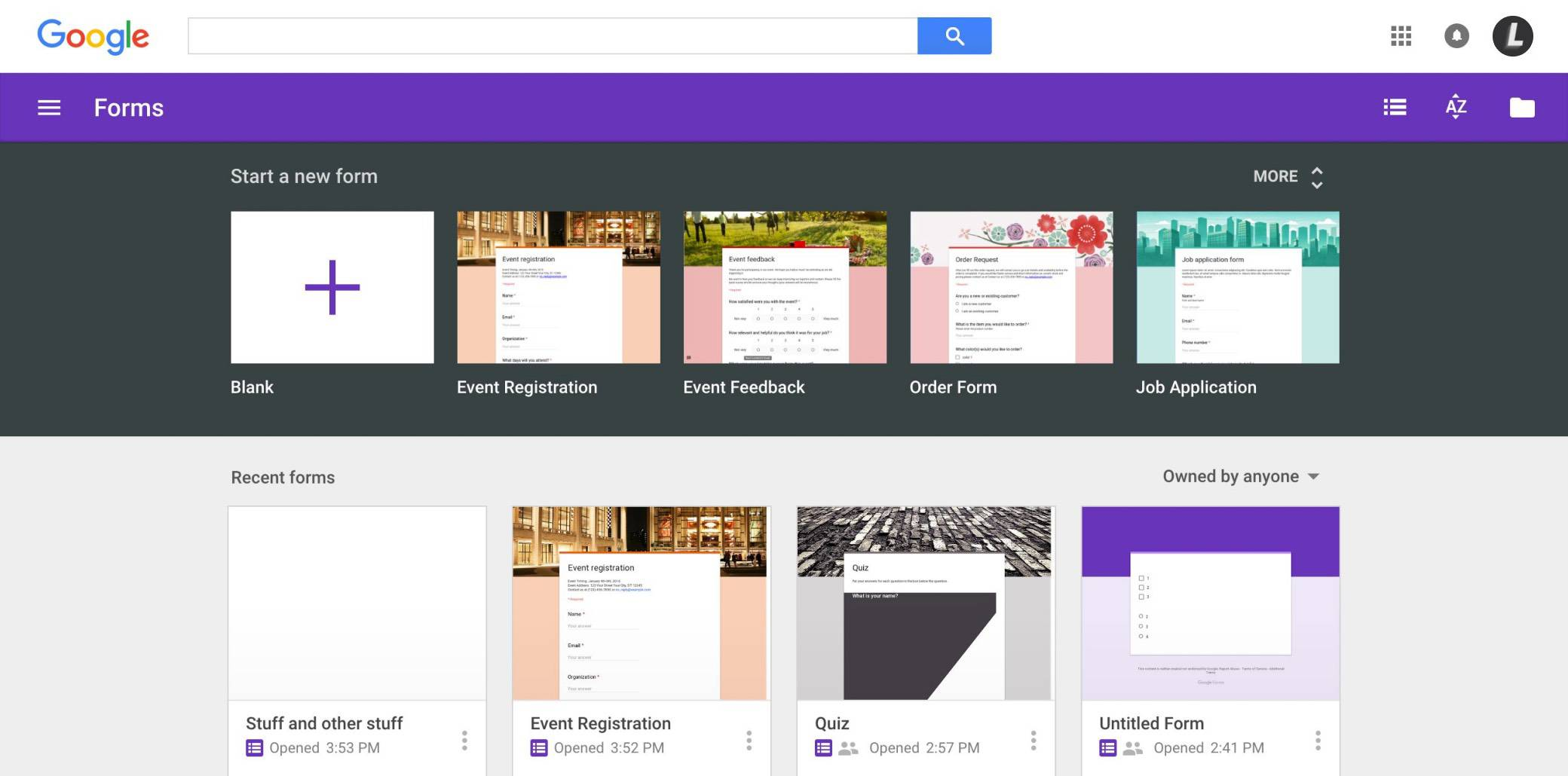 google-forms image