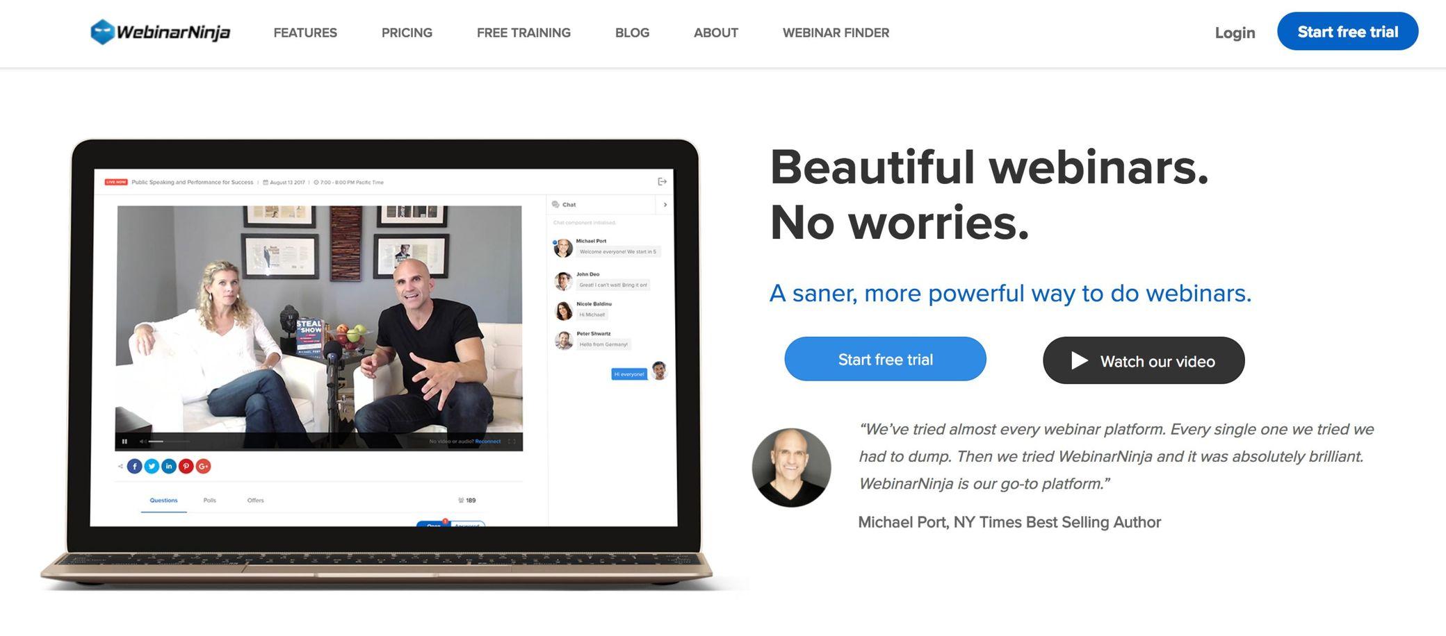 webinarninja screenshot
