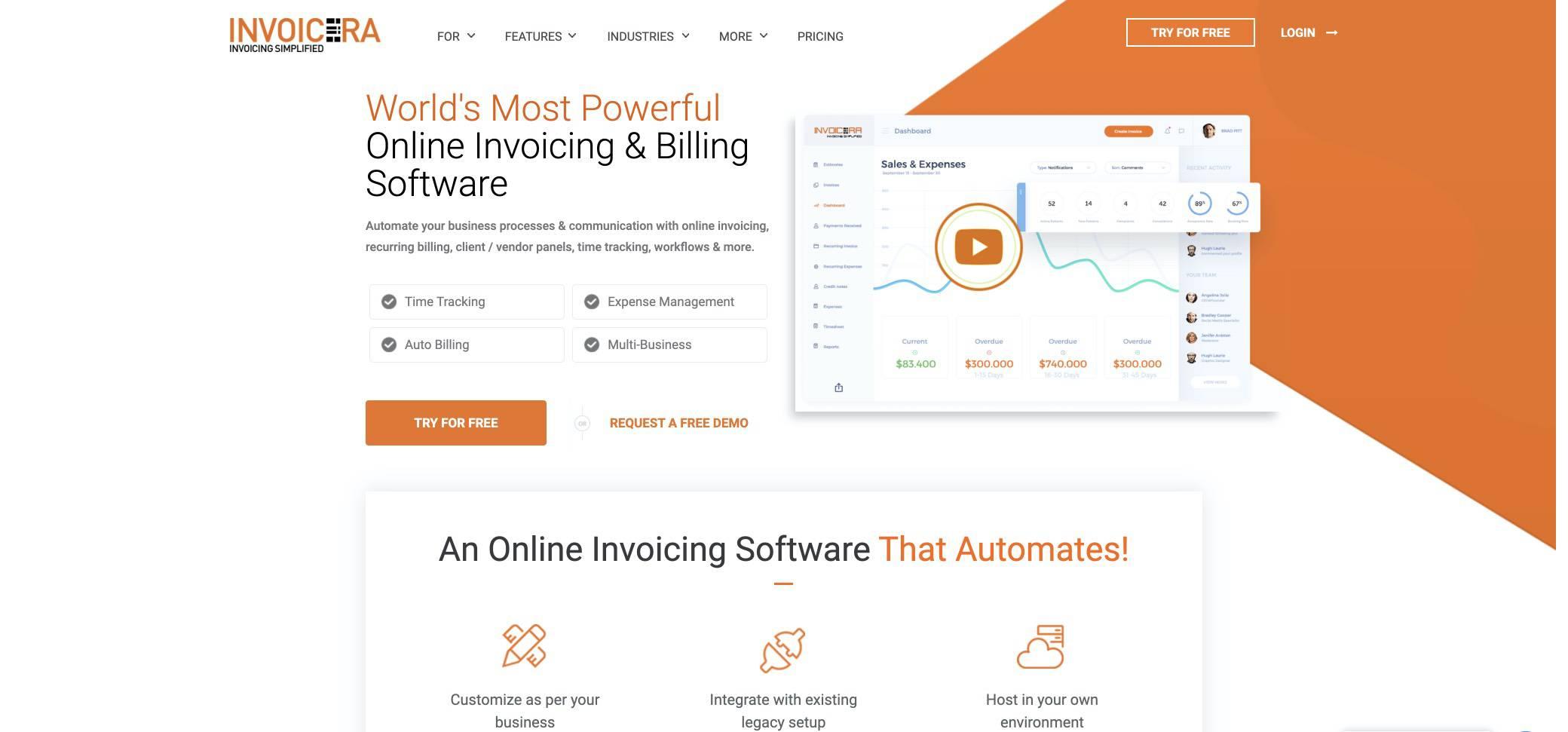 invoicera screenshot