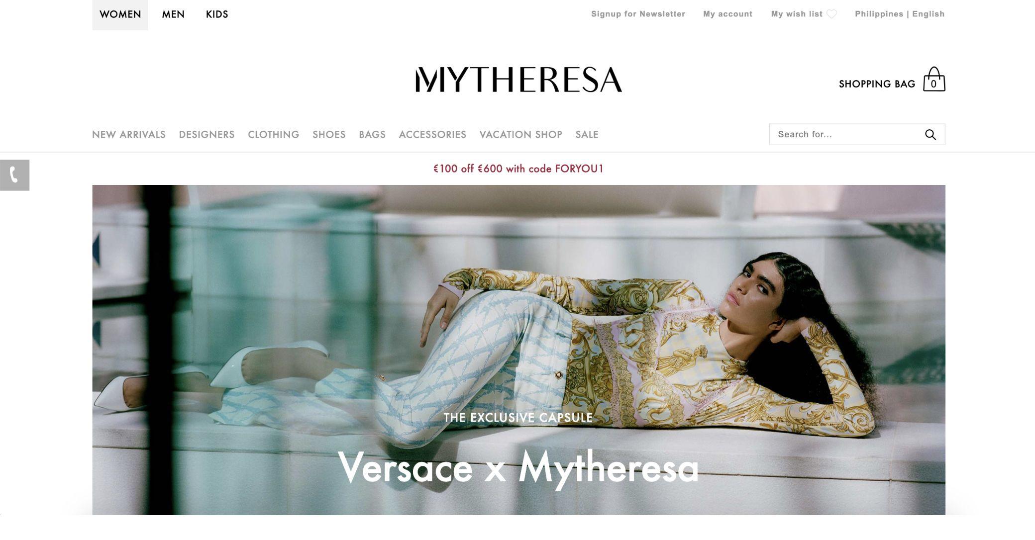 mytheresa screenshot