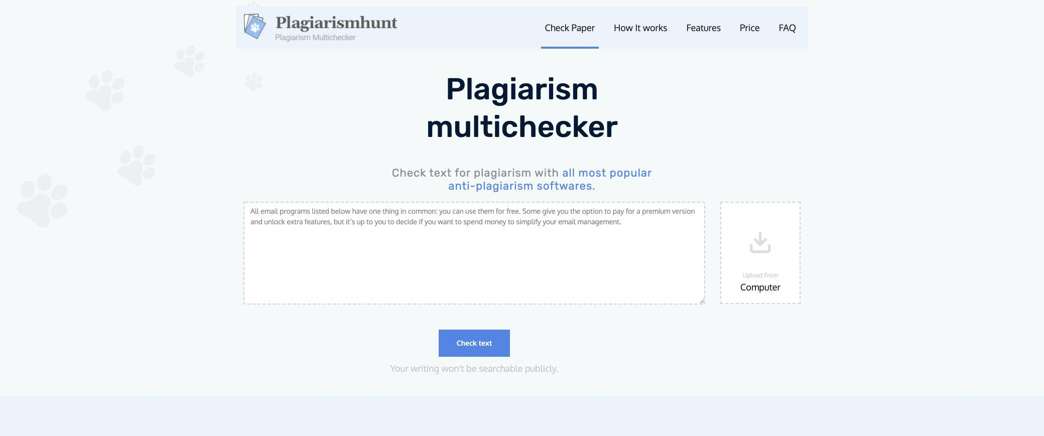 plagiarismhunt screenshot